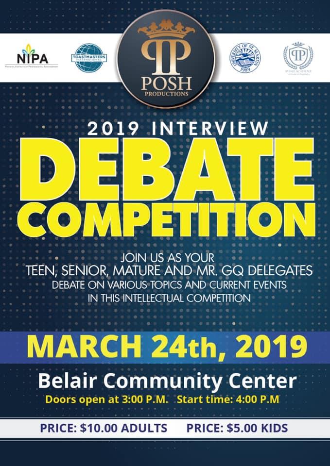 2019 Interview Debate Competition • St Maarten Events
